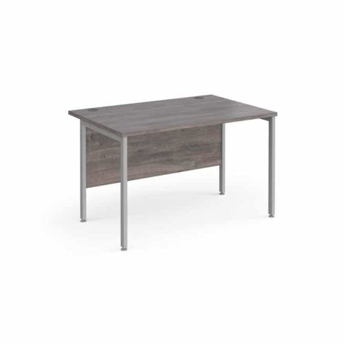 Grey Oak Straight Desk