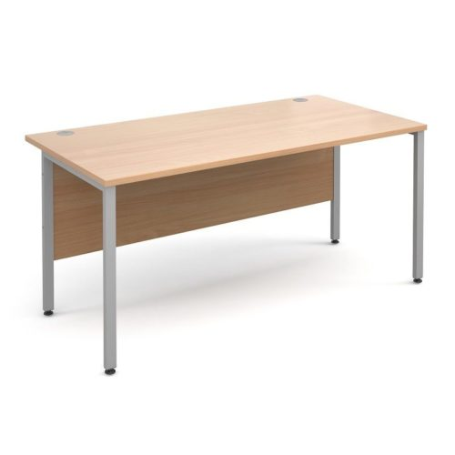 H Frame 1000mm Deep Straight BEECH Ergonomic Office Desk-0