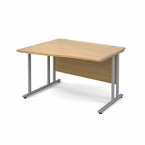 BiMi 1600mm x 800mm Left Hand Wave Desk in Oak