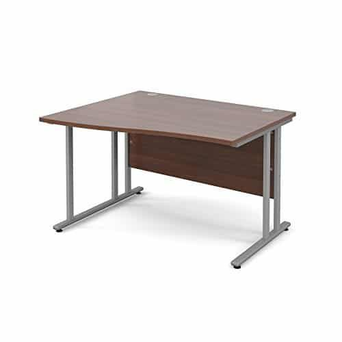 BiMi 1400mm x 800mm Left Hand Wave Desk in Walnut