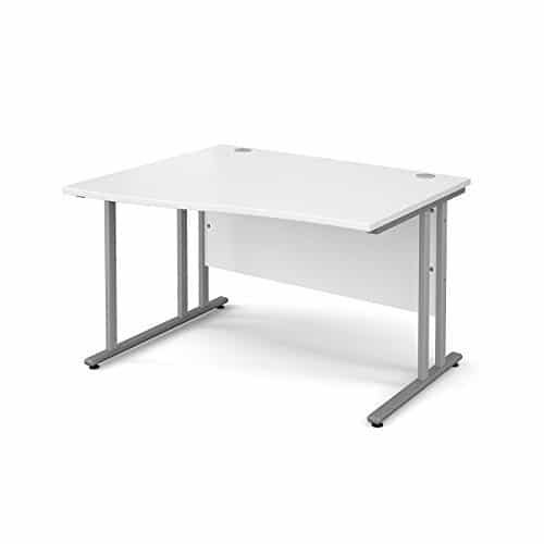 BiMi 1600mm x 800mm Left Hand Wave Desk in White