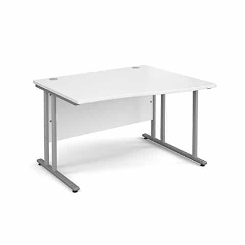 BiMi 1400mm x 800mm Right Hand Wave Desk in White