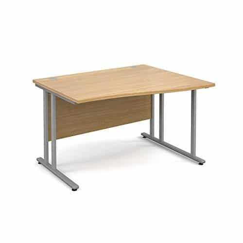 BiMi 1600mm x 800mm Right Hand Wave Desk in Oak