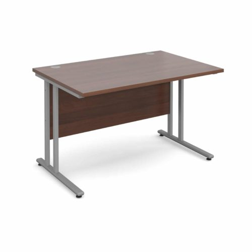BiMi 1600 x 800 Rectangular Desk Complete With 2 Draw Pedestal Walnut