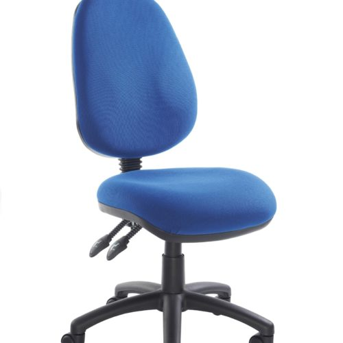 Fabric Operator seating - 2 Lever Operator Chair without Arms - Blue