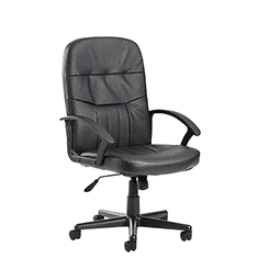 Cavalier High Back Managers Leather faced Office Chair
