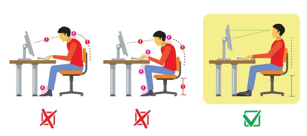 Working from home tips - Office Chair Posture