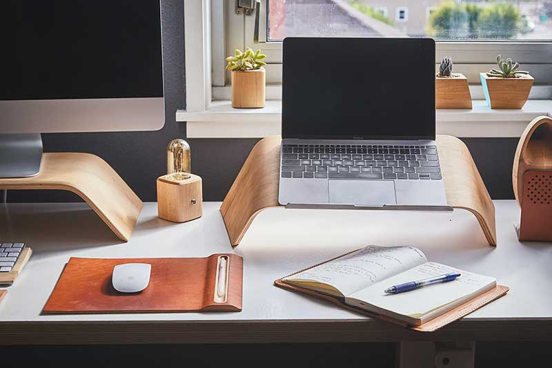 Working from home tips - Home Office Desk Organisation