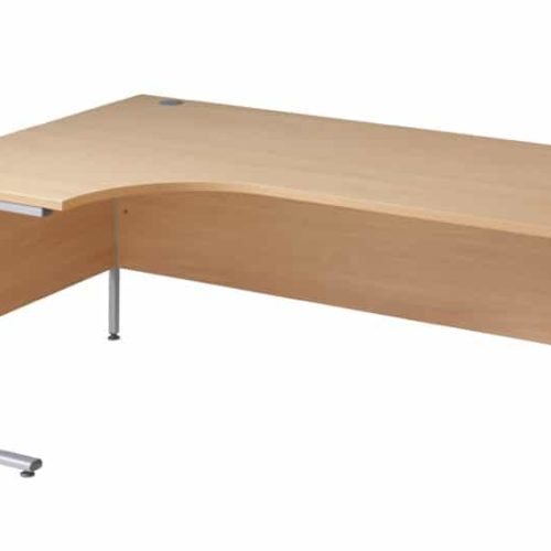 Oak Ergnonomic 1600mm Left Hand Desk